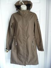 "KILLTEC Jacket Coat 8 Germany Design Windproof Breathable Brown Hooded 36"" Long"