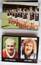 54 x FOOTBALL 79/80 STICKERS BY TRANSIMAGE EXCELLENT CONDITION 1979 1980 NOT CUT