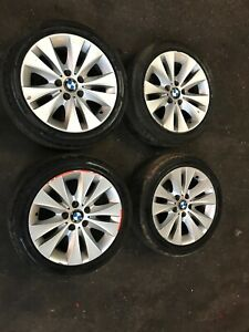 BMW E60 5 SERIES ALLOY WHEELS SET OF 4 WITH GOOD TYRES 6758775 225/45/17