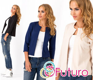 Elegant & Classic Women's Blazer Casual Jacket Style Cape Sizes 8-14 FA339