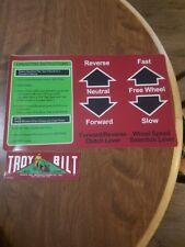 TROY-BILT HORSE MODEL TILLER TINE HOOD DECALS