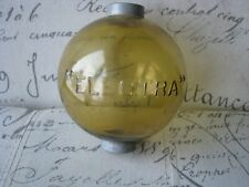 Amber Round Electra Glass Old Lightning Rod Ball