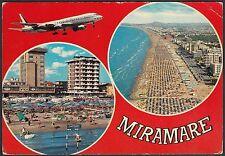 AA4556 Rimini - Città - Miramare - Alberghi e spiaggia - Cartolina - Postcard
