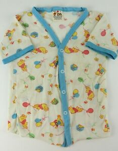 Vintage 1970's Sears Winnie The Pooh Kids/Youth Size 5 Button Front T Shirt Blue