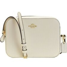 NWT COACH Mini Camera Crossbody Classic Small Logo Messenger Chalk Gold 87734