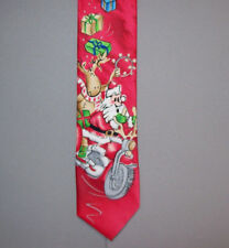 "Jerry Garcia SANTA on MOTORCYCLE Drummers Collection 60"" Polyester Neck Tie #746"