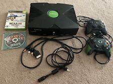Microsoft Original Xbox 2 Controllers 2 Games Oem Cables Read Description