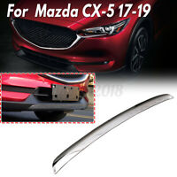 For Mazda CX-5 CX5 2017-2019 Stainless Steel Chrome Front bumper lip tri