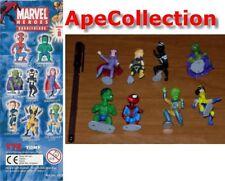 Set 8 Figure MARVEL Eroi BOBBLE HEADS Serie 1 Hulk Wolverine Magneto Venom TOMY