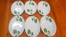 Large Dinner Plates 6 Pcs Melamine Oval Dinner Plate About 35x25cm