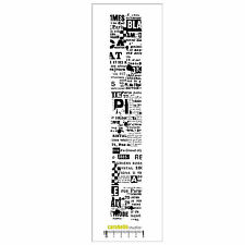 Carabelle Studio Cling Stamp Border Edge: Collage Pub (Journal Collage)