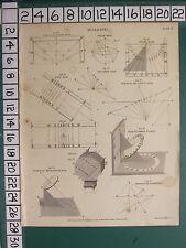 1809 ed è avvenuta datato antico stampa ~ chiamata ~ polare Sud Dial ~ tre piani verticali