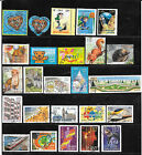 FRANCE 2001.LOT DE 32 TIMBRES GOMMES CACHETS RONDS TOUS DIFFERENTS