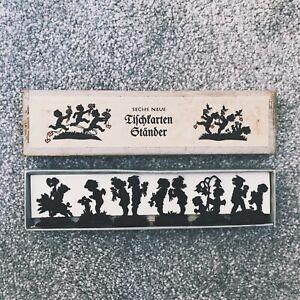 VINTAGE CHRISTMAS GERMAN SILHOUETTE NAME HOLDERS BOXED