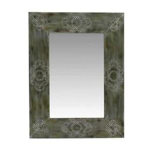 Foreside Home Riveted Rectangular Mirror