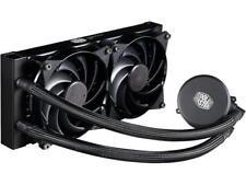 Cooler Master MasterLiquid 240 AIO CPU Liquid Cooler, White Led Pump, Robust Sle