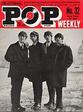 Pop Weekly Magazine 4 April 1964  The Beatles  Kathy Kirby  Billie Davis Animals