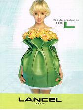 PUBLICITE ADVERTISING 025  1998  LANCEL   maroquinerie de luxe sac besace
