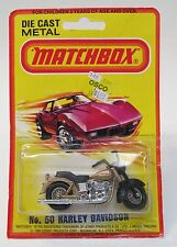 Matchbox #50 HARLEY DAVIDSON Motorcycle Superfast factory sealed blister card