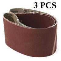 100x910mm 4x36 Grit 240-400 Premium Sanding Belts Metal Wood Working Replace