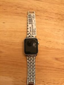 Apple Watch Series 3 38mm Silver Aluminum Case White Sport Band - (MTGG2LL/A)