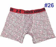 "2924 New Under Armour Boxerjock Boxer Briefs 6"" Underwear Men's Camo Pink Gray M"