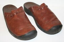 Pre-Owned Women's KEEN Winslow Brown Leather Slip-on Mule Clogs sz 7.5, UK 5