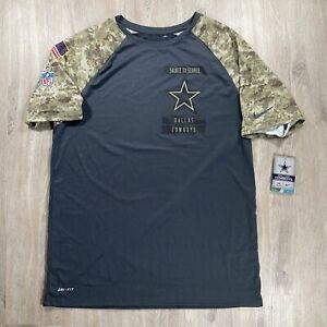 Nike NFL Dallas Cowboys Salute to Service STS Raglan T-Shirt Blue Camo Large NEW