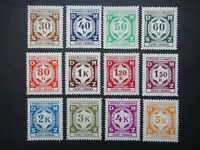 Germany Nazi 1941 OFFICIAL Stamps MNH Third Reich B&M Numeral Bohemia & Moravia