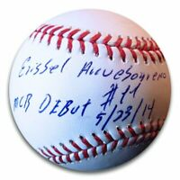 "Erisbel Arruebarrena Signed Autographed Baseball Dodgers ""MLB Debut"" w/COA"