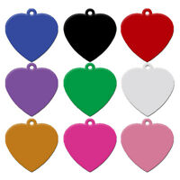 20pcs/lot Aluminum Dog ID Tags Heart Shape No Engraving Collar Tag Blank for Pet