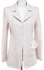 Chanel jacket blazer tweed 16S 2016 Pink Ivory SPRING AIRLINE Fantasy 36 BNWT