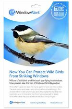 Window Alert 4 Modern Square Decals Protect Wild Birds