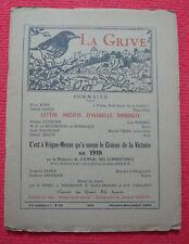 La Grive N° 110, Avril-Juin 1961  - Lettre inédite d'Isabelle Rimbaud