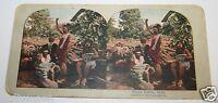 Rare ORIGINAL Antique 1900`s Hindu Fakirs India Stereoview Photo Tribe Hinduism