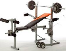 V-fit STB09-2 Folding Weight Bench with 50kg Cast Iron Weight Set r.r.p £260.00