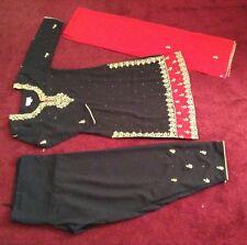 Girls/ women's Salwer kameez Black & Red,Stone Work,Georgette Size S India Pakis