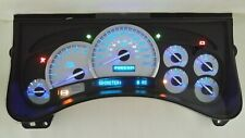 5LL 03-04 REMAN H2 HUMMER SS WHITE GAUGE BLUE LED REPLACEMENT CLUSTER