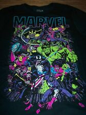 VINTAGE STYLE MARVEL COMICS THANOS VENOM HULK BLACK PANTHER T-Shirt LARGE NEW