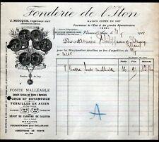 """VERNEUIL-sur-AVRE (27) USINE FONDERIE DE L'ITON / OUTILLAGE """"J. MIOCQUE"""" en 1911"""