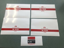 IH INTERNATIONAL RESTORATION FILTER WRAP DECAL PACKAGE RED 5 PIECES