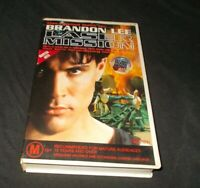 Laser Mission VHS Pal Brandon Lee Big Box Ex Rental
