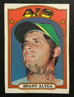 Brant Alyea A's Athletics signed 1972 Topps baseball card #383 Auto Autograph 1