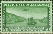 Newfoundland 1931 50c Green SG196 V.F Lightly Mtd Mint