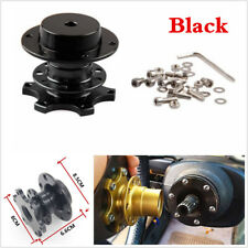 Black Quick Release HUB Racing Adapter Snap Off Boss For In-Car Steering Wheel