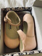 Sevva Bebé Niña Zapatos Rosa Camila Tamaño 6 Brillante Rosa Bebé Zapatos Con Caja