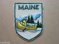 Maine Woven Cloth Patch Badge