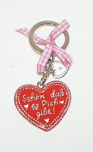"""GIFT COMPANY ♥ Schlüsselanhänger """"Schön daß es Dich gibt!"""" ♥ Lebkuchenherz ♥"""
