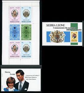 Sierra Leone Scott #518 MNH BOOKLET Prince Charles Lady Diana Wedding CV$12+