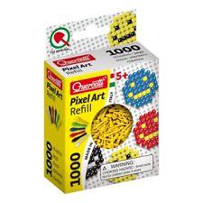 Quercetti 02476 mosaique recharges 1000 picots Pixel Art refill couleur jaune